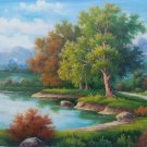 "Hand painted oil painting on canvas""Creek""60x120CM(23.6""x47.2"")Unframed-593"