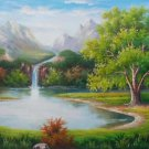 "Hand painted oil painting on canvas""Creek""60x120CM(23.6""x47.2"")Unframed-594"