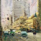 """Hand painted oil painting on canvas""""metropolis""""50x60CM(19.7""""x23.6"""")Unframed-120"""