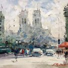 """Hand painted oil painting on canvas""""metropolis""""50x60CM(19.7""""x23.6"""")Unframed-125"""