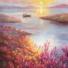 "Hand painted oil painting on canvas""Creek""60x120CM(23.6""x47.2"")Unframed-598"