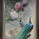 """Hand painted oil painting on canvas""""Gorgeous peacock""""100x150CM(40""""x60"""")Unframed-91"""