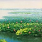 """Hand painted oil painting on canvas""""lake""""50x60CM(19.7""""x23.6"""")Unframed-134"""