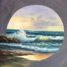 """Simple modern Hand painted oil painting on canvas""""Waves""""100x100CM(40""""x40"""")Unframed-20"""