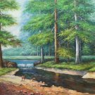 """American style Hand painted oil painting on canvas""""Creek""""70x180CM(27.6""""x70.9"""")Unframed-614"""