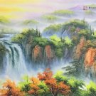 "Hand painted oil painting on canvas""water from a mountain""60x120CM(23.6""x47.2"")Unframed-619"