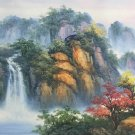 """Hand painted oil painting on canvas""""water from a mountain""""60x120CM(23.6""""x47.2"""")Unframed-620"""