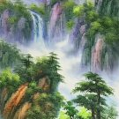 "Hand painted oil painting on canvas""water from a mountain""60x120CM(23.6""x47.2"")Unframed-622"