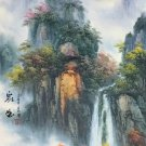 """Hand painted oil painting on canvas""""water from a mountain""""60x120CM(23.6""""x47.2"""")Unframed-624"""