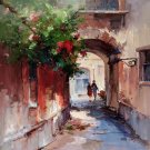 """European style Hand painted oil painting on canvas""""Venice""""70x70CM(30x30inch)Unframed-43"""
