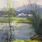 """Hand painted oil painting on canvas""""Image of the countryside""""60x120CM(23.6""""x47.2"""")Unframed-175"""