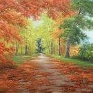 """Nordic style Hand painted oil painting on canvas""""forest""""60x120CM(23.6""""x47.2"""")Unframed-64"""