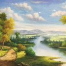 "Hand painted oil painting on canvas""Creek""60x120CM(23.6""x47.2"")Unframed-631"