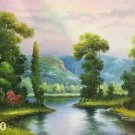 """Hand painted oil painting on canvas""""Creek""""60x90CM(23.6""""x35.4"""")Unframed-635"""