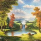 """Hand painted oil painting on canvas""""Creek""""60x90CM(23.6""""x35.4"""")Unframed-638"""