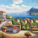 """Mediterranean Hand painted oil painting on canvas""""Sea view Villa""""60x90CM(23.6""""x35.4"""")Unframed-105"""