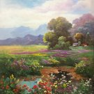 """Hand painted oil painting on canvas""""Creek""""75x100CM(30""""x40"""")Unframed-652"""