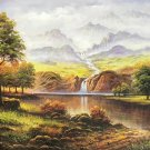 "Hand painted oil painting on canvas""Creek""60x120CM(23.6""x47.2"")Unframed-659"