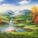 "Hand painted oil painting on canvas""Creek""60x120CM(23.6""x47.2"")Unframed-664"