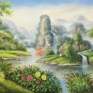 """Hand painted oil painting on canvas""""Creek""""60x120CM(23.6""""x47.2"""")Unframed-670"""