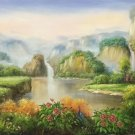 "Hand painted oil painting on canvas""Creek""60x120CM(23.6""x47.2"")Unframed-671"
