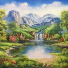 "Hand painted oil painting on canvas""Creek""60x120CM(23.6""x47.2"")Unframed-673"