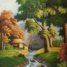 """Hand painted oil painting on canvas""""Creek""""60x120CM(23.6""""x47.2"""")Unframed-676"""