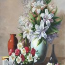"""Simple modern Hand painted oil painting on canvas""""Flowers""""60x90CM(23.6""""x35.4"""")Unframed-69"""