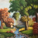 "Hand painted oil painting on canvas""Creek""60x90CM(23.6""x35.4"")Unframed-690"