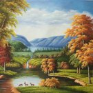 """Hand painted oil painting on canvas""""Creek""""60x90CM(23.6""""x35.4"""")Unframed-691"""