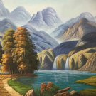 """Hand painted oil painting on canvas""""Creek""""60x90CM(23.6""""x35.4"""")Unframed-693"""