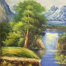 "Hand painted oil painting on canvas""Creek""60x90CM(23.6""x35.4"")Unframed-694"