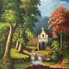 """Hand painted oil painting on canvas""""Creek""""60x90CM(23.6""""x35.4"""")Unframed-692"""
