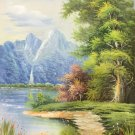 """Hand painted oil painting on canvas""""Creek""""60x90CM(23.6""""x35.4"""")Unframed-695"""