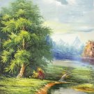 """Hand painted oil painting on canvas""""Creek""""60x90CM(23.6""""x35.4"""")Unframed-696"""