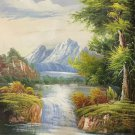 """Hand painted oil painting on canvas""""Creek""""60x90CM(23.6""""x35.4"""")Unframed-697"""