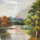 "Hand painted oil painting on canvas""Creek""60x90CM(23.6""x35.4"")Unframed-699"