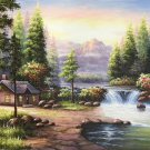 "Hand painted oil painting on canvas""Creek""60x90CM(23.6""x35.4"")Unframed-700"