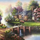 "Hand painted oil painting on canvas""Creek""60x90CM(23.6""x35.4"")Unframed-702"