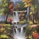 "Hand painted oil painting on canvas""Creek""80x160CM(33""x63"")Unframed-705"