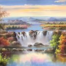 "Hand painted oil painting on canvas""Creek""100x200CM(40""x80"")Unframed-707"