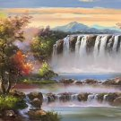 "Hand painted oil painting on canvas""Creek""60x90CM(23.6""x35.4"")Unframed-710"