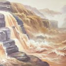 """Hand painted oil painting on canvas""""Yellow River""""70x180CM(27.6""""x70.9"""")Unframed-713"""