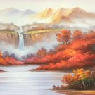 "American style Hand painted oil painting on canvas""Creek""70x180CM(27.6""x70.9"")Unframed-718"
