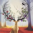 "Hand painted oil painting on canvas""The King Of Milu Deer""50x70CM(20""x30"")Unframed-22"