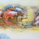 "Hand painted oil painting on canvas""abstract carp""40x150CM(16""x60"")Unframed-27"