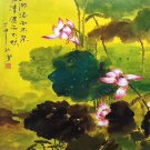 """Hand painted oil painting on canvas""""Abstract lotus""""50x70CM(20""""x30"""")Unframed-88"""