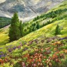 """Hand painted oil painting on canvas""""Mountain""""80x160CM(33""""x63"""")Unframed-732"""
