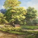 """American style Hand painted oil painting on canvas""""Creek""""70x180CM(27.6""""x70.9"""")Unframed-738"""