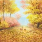 """American style Hand painted oil painting on canvas""""Creek""""70x180CM(27.6""""x70.9"""")Unframed-740"""